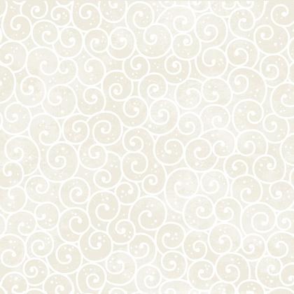 Fabric - Winter Swirl Cream