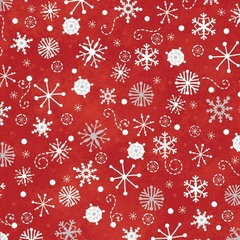 Fabric - Snowfall Red