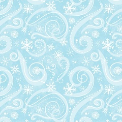 Fabric - Snowflake Swirl