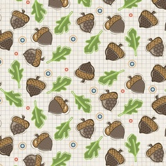 Fabric - Falling Acorns Tan