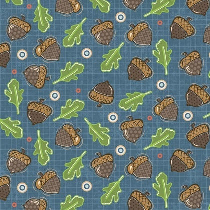 Fabric - Falling Acorns Blue