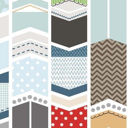 Fabric - Patchwork Arrow White