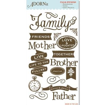 Wonderful Family Clear Sticker