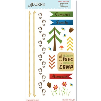 Campsite Clear Sticker