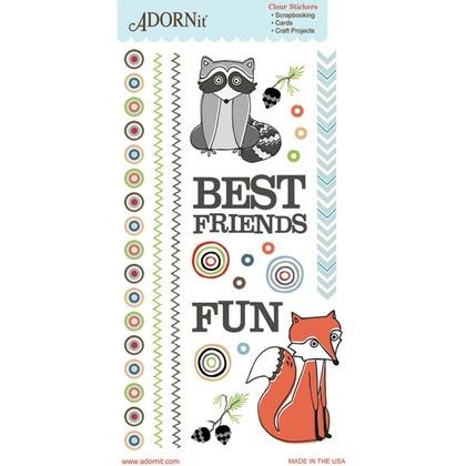 Critter Friends Clear Sticker