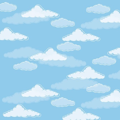 Fabric - Cloudy Sky