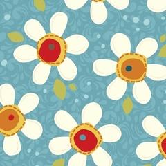 Fabric - Pop Daisy Blue