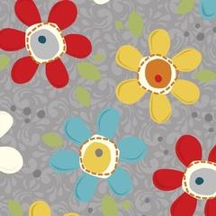 Fabric - Pop Daisy Charcoal
