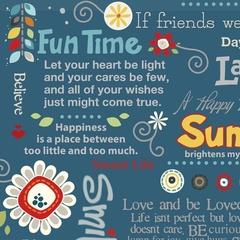 Fabric - Sunshine Wordplay Fabric