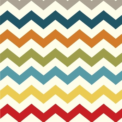 Fabric - Chevron Multi Charcoal