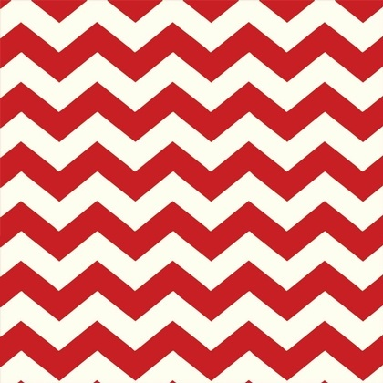 Fabric - Chevron Red