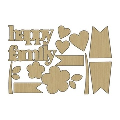 Wood Shapes - Family Patchwork