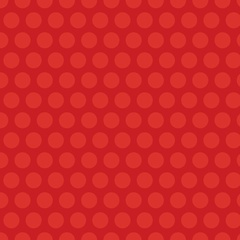 Fabric - Grid Dot Red
