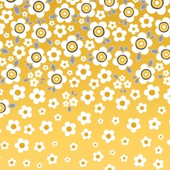 Fabric - Daisy Ombre Yellow