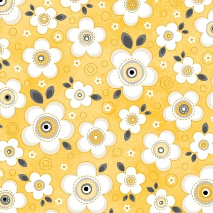 Fabric - Daisy Darling Yellow