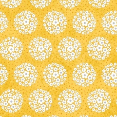 Fabric - Pom-pom Dot Yellow