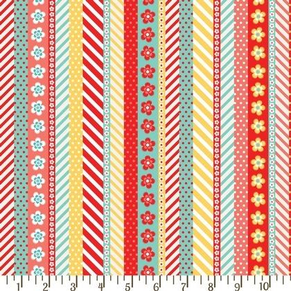 Fabric - Daisy Tickertape Juicy