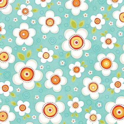 Fabric - Daisy Darling Teal