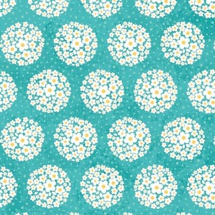 Fabric - Pom-pom Dot Teal