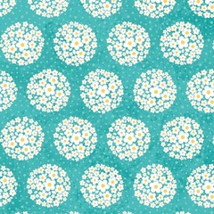 Fabric - Pom-pom Dot Teal