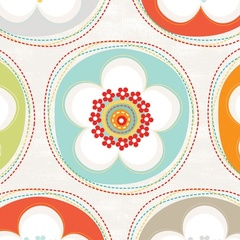 Fabric - Crazy for Daisy Dot Juicy