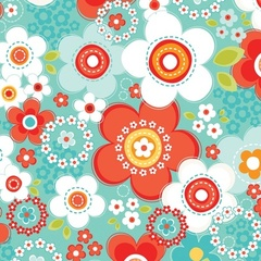 Fabric - Daisy Array Juicy