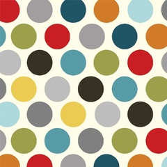 Fabric - Vintage Polka Dot Charcoal