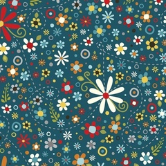 Fabric - Daisy Spray Navy