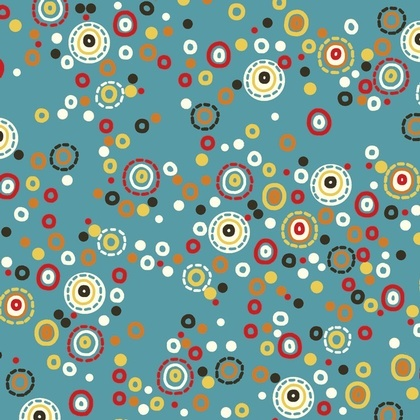 Fabric - Hoot Dot Blue