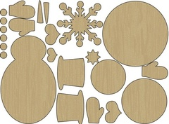 Snowman Wood Shapes