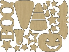 Wood Shapes - Halloween