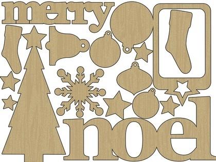 Wood Shapes- Christmas