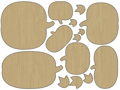 Wood Shapes - Pumpkins