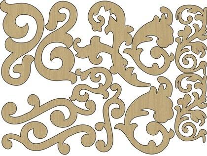 Wood Shapes - Flourishes
