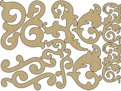 Wood Shapes - Flourishes