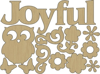 Wood Shapes - Joyful