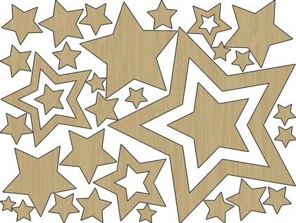 Wood Shapes - Stars