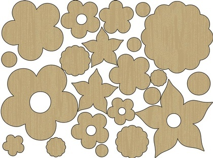 Wood Shapes - Flower