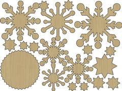 Wood Shapes - Snowflakes