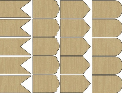 Wood Shapes - Swags