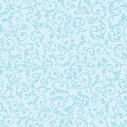 Fabric-Curly Motif Aqua