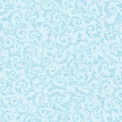 Fabric-Curly Motif Aqua