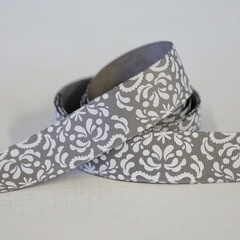 Ribbon - Damask Charcoal