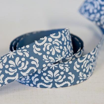 Ribbon - Damask Blue