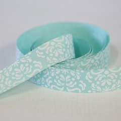 Ribbon - Damask Aqua