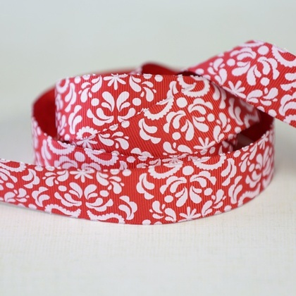 Ribbon - Damask Red