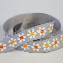 Daisy Pop Gray Ribbon