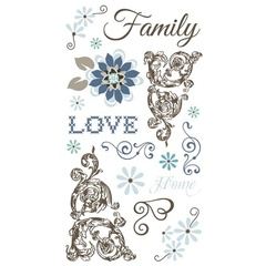 Love & Family Clear Sticker