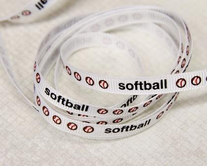 Ribbon - Softball Stripe