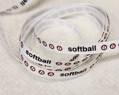 Ribbon - Softball Stripe